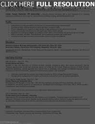 Internship In Resume Sample Architecture Intern Resume Sample