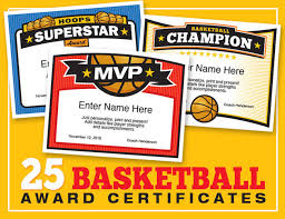 mvp award certificates elite basketball award certificate templates boys and girls teams