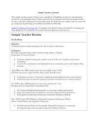 Prepossessing Resume Samples For Teaching Jobs Also 9 Resume Format