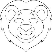Lion Mask Template Farm Animal Templates To Print Jungle Masks Lion