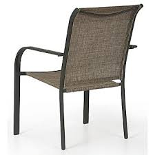outdoor stack chairs. Essential Garden Bartlett Sling Stack Patio Chair - Neutral 4 Outdoor Chairs B