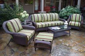tortuga outdoor sea pines 6 piece wicker conversation set