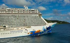 was damaged and had to cancel the cruise due to being caught in a horrific storm the ship was actually sailing a similar route to norwegian escape