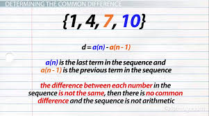 common difference formula overview