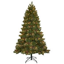 National Tree Company 7.5 ft. Cashmere Cone and Berry Decorated ...