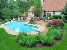 nice idea for inground pool landscaping