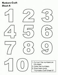 Small Picture Coloring Pages Numbers 1 10 aecostnet aecostnet