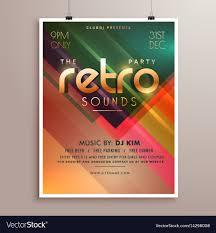 Event Invitations Templates Free Retro Music Party Event Flyer Invitation Template