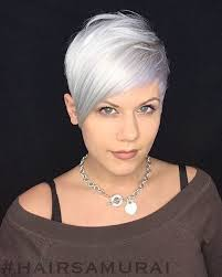 Stunning short pixie haircuts ideas Bangs Impressive Silver With Side Swept Bangs Latesthairstylescom The Short Pixie Cut 42 Great Haircuts Youll See For 2019