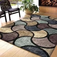 brown and blue area rug weavers scene collection virtual reality multi area rug x living