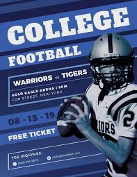 football flyer templates college football flyer design template in psd word publisher