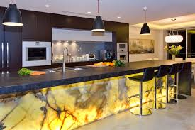 Unique Modern Kitchens 2016 The Glowing Marble Kitchen Design In Models