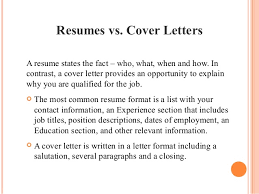 Importance Of Resume And Cover Letter Gallery One Importance Of A