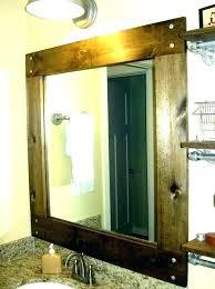 framed bathroom mirrors wooden frame mirror wood for your diy around mirror frame bathroom diy rustic