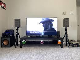 My new setup- Klipsch the Fives, Klipsch r-100sw subwoofer, Apple airport  express and Pyle speaker stands. Got the Fives for $549, Subwoofer for  $149. 😊: BudgetAudiophile