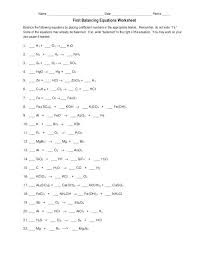 ng chemical equations answers worksheets with on practice worksheet fresh chemistry about balancing