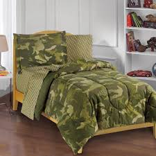 green camo camouflage full bed in a bag 7pc bedding set sheets shams comforter