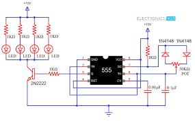 pwm based led dimmer using 555 circuit block diagram working circuit diagram of pwm led dimmer using 555
