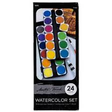 Master S Touch Acrylic Paint Color Chart Masters Touch Watercolor Paint 24 Piece Set Hobby Lobby 756155