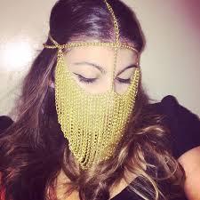 Ayanna <b>Gold</b> Face Chain Headpiece Veil