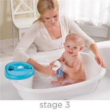 summer infant newborn to toddler bath tub center showerin blue image