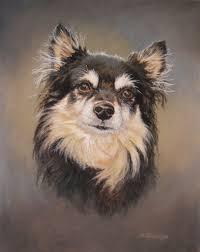 dog portrait oil painting by david trowbridge