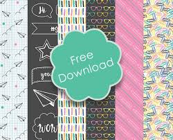 Free Back To School Printable Papers The Craft Blog