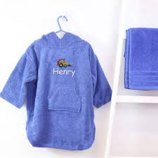 personalised boy s hooded logo poncho