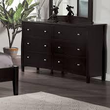 espresso 6 drawer dresser. Furniture Of America Milano Espresso Dresser To Drawer