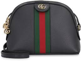 gucci ophidia leather shoulder bag black