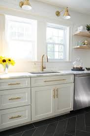 champagne bronze cabinet pulls. white and gold kitchen with schoolhouse electric princeton senior sconces champagne bronze cabinet pulls