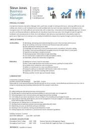 Accountant Cv Sample Free Operations Manager 4 Resume Examples Resume Cv Template Sample