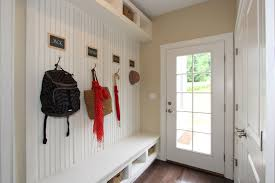 Beadboard Entryway Coat Rack Simple Mudroom Ideas With White Beadboard Paneling And Entryway 29