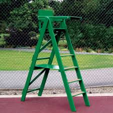 wooden umpire s chair for tennis