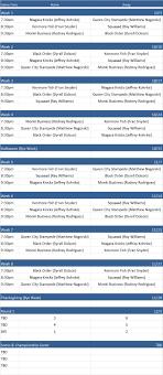 How To Make A League Schedule Nbcc A League Schedule Healthy Buffalo Creating A