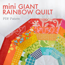 Introducing the MINI Giant Rainbow Quilt Pattern! & ... mini Giant Rainbow Quilt Pattern Adamdwight.com