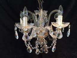antique glass bohemian chandelier