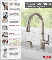 Kitchen Faucet Soap Dispenser Delta Charmaine Single Handle Pull Down Sprayer Kitchen Faucet