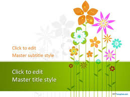 Ppt Flowers Free Floral Ppt Template