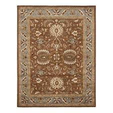 safavieh heritage brown blue area rug