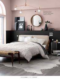 wall color for black furniture. ikea blush pink and black half painted wall in bedroom color for furniture a
