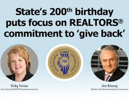 illinois realtors® bicentennial task force launches home is where  state s 200th birthday puts focus on giving back