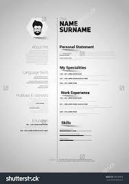 mini st cv resume template simple design stock vector 309789893 mini st cv resume template simple design vector
