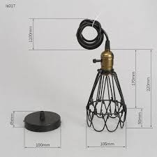 FRLED Fashion Vintage Wire Lamp Cage DIY Lampshade Industrial Lamp