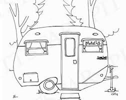 Camper Trailer Coloring Pages Beautiful Rv Drawing At Getdrawings