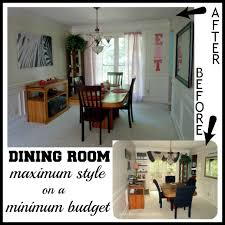 Before After Budget Dining Room Makeover Dining Room Redo Pictures