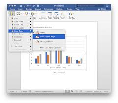 Screenshot Of Selecting Data Table For Column Charts In Word