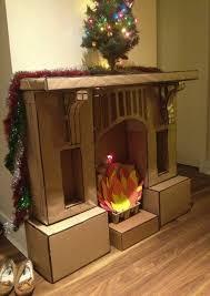 fine decoration cardboard fireplace kit cardboard fireplace decoration with chimney home decorating ideas