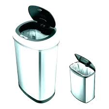 countertop trash can ceramic garbage chute with lid ring