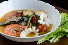 Soup Kitchen Meal Good Meal Hunting Tom Yum Seafood Noodle Soup
